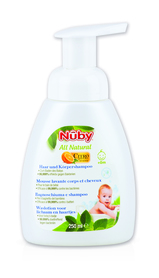 Nuby Foaming hair and body wash – 250ml CG14025