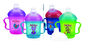 Nuby 360° Straw No-Spill™ Training Cup with handles - 240ml ID10347