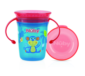 Nuby 360° Wonder cup with handles - AQUA- 240ml - 6m+ ID10410AQUA