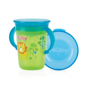 Nuby 360° Wonder cup with handles - 240ml - green - 6m+ NV0414001GREEN