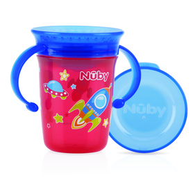 Nuby 360° Wonder cup with handles - RED - 240ml - 6m+ ID10410RED