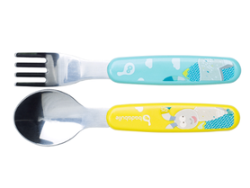 Badabulle Metal cutlery Yellow/Blue B005414