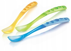Nuby Angled Long Handle Spoon - 3p - 6m+ ID5377