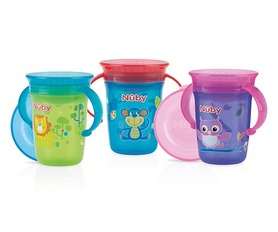 Nuby 360° Wonder cup with handles - 240ml - 6m+ ID10410