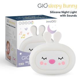 InnoGIO Silicone Night Light with Sounds GIOsleeping Bunny GIO-134