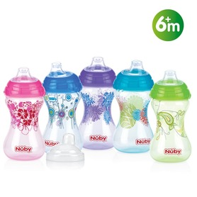 Nuby Designer Series Easy Grip™ No-Spill™ cup – 300ml – 6m+ ID10282