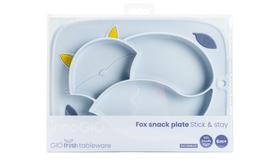 InnoGIO GIOfresh tableware Fox snack plate Stick & stay  GIO-900BLUE