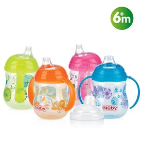 Nuby Designer Series No-Spill™ cup with handles – 270ml – 6m+ ID10320