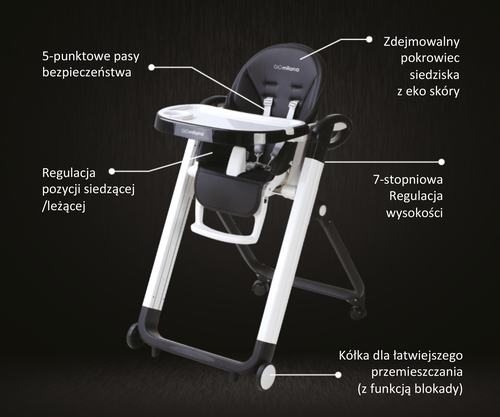 InnoGIO Multifunctional Baby High Chair GIO-MILANO (4)