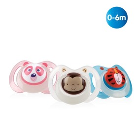 Nuby Glow in the dark Oval Soother - 0-6m ID5877SFSN